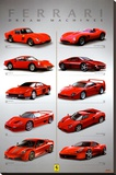 Ferrari - Dream Machines Stretched Canvas Print