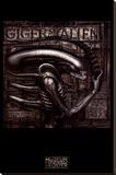 Giger's Alien Lærredstryk på blindramme af H. R. Giger