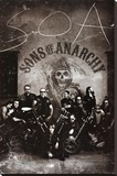 Sons of Anarchy Group TV Poster Print Reproduction sur toile tendue