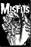 The Misfits (Pushead) Music Poster Print Reprodukce na plátně