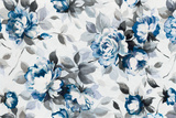 Scent of Roses Indigo Prints by Wild Apple Portfolio