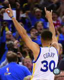 Stephen Curry during the Golden State Warriors NBA record 73rd win of the season- April 13, 2016 Photo