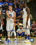 Stephen Curry & Draymond Green during the Golden State Warriors NBA record 73rd win of the season-  Photo
