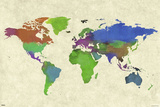 World Map- Watercolor Beauty Posters