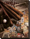 Baseball II Opspændt lærredstryk af Michael Harrison