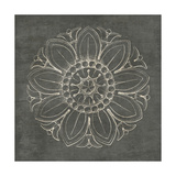 Rosette VII Gray Art by Wild Apple Portfolio