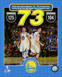 The Golden State Warriors set the NBA All-Time record for wins in a season at 73- April 13, 2016 Photo