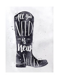 Poster Boots Prints by  anna42f