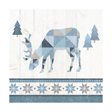 Nordic Geo Lodge Deer II Prints by Wild Apple Portfolio