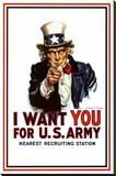 I Want You - Uncle Sam Lærredstryk på blindramme