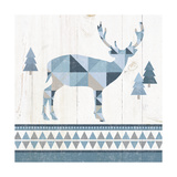 Nordic Geo Lodge Deer I Art by Wild Apple Portfolio