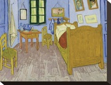 Bedroom at Arles, 1889-90 Stretched Canvas Print by Vincent van Gogh