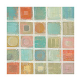 Sea Glass Mosaic Tile II Art by Silvia Vassileva