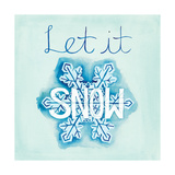 Snowflake Sayings I Prints by Elyse DeNeige