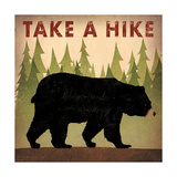 Take a Hike Black Bear Poster by Ryan Fowler