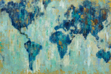 Map of the World Prints by Silvia Vassileva