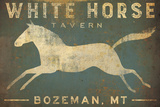 White Horse Running Prints by Ryan Fowler