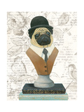 Canine Couture Newsprint III Art by Emily Adams