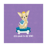 Good Dogs Chihuahua Bright Print by Moira Hershey