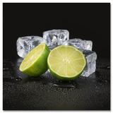 Black Lime & Cubes Kunstdrucke von Uwe Merkel