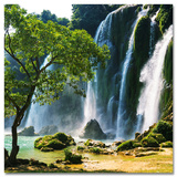 Waterfall In Vietnam Posters
