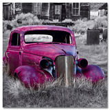Pink Old Car Poster