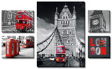 London 5 Piece Set Posters