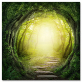Tunnel in the Forest Posters