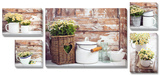 Rustic Décor 5 Piece Set Prints
