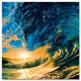 Sunset Ocean Wave Plakaty