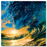 Sunset Ocean Wave Schilderij
