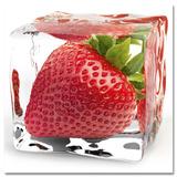 Glaçon à la fraise Affiches