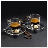 Creamy Espressos With Amarettini Kunst van Uwe Merkel