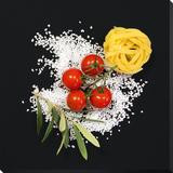 Cucina Italiana Pasta Stretched Canvas Print by Uwe Merkel