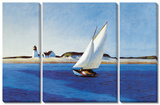 Edward Hopper - The Long 3 Piece Set Obrazy