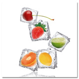 Fruity Ice Cubes - Poster