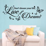 Dream Quote Wandtattoo