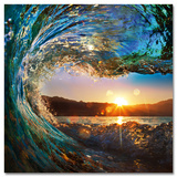 Tropical Ocean Wave Posters