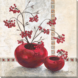 Fruits rouges Reproduction sur toile tendue par C. Ancilotti