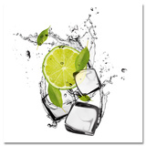 Dancing Lime & Ice Cubes Poster