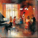 Jazz Is The Rythm I Stretched Canvas Print by Willem Haenraets