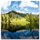 Alpine Lake In Austria Stampe