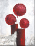 Red Pompons Reproduction sur toile tendue par C. Ancilotti