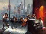 Jazz Is The Rythm III Trykk på strukket lerret av Willem Haenraets