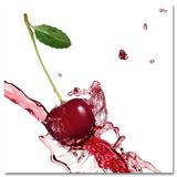 Splashing Cherry Kunstdrucke