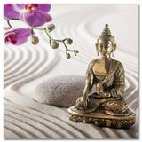 Buddha In The Sand Plakat