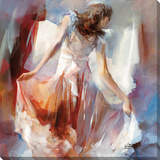 Lady Of Fashion & Style II Sträckt Canvastryck av Willem Haenraets