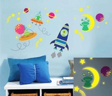 Galaxy Glow - Duvar Çıkartması