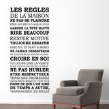 Les règles de la maison Wallsticker