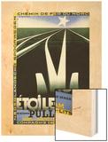 L'Etoile Du Nord, 1927 Wood Print by Adolphe Mouron Cassandre